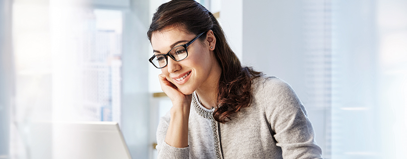 Woman reviewing staff engagement report
